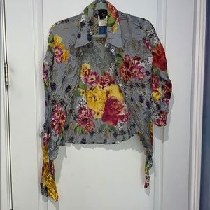 JUST CAVALLI SILK BLOUSE SIZE 46